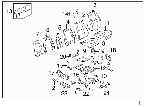 Front Seat Components for 2007 Chevrolet Tahoe #3