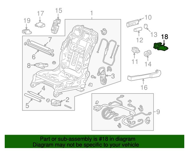 Honda Genuine 82940-SZA-A41ZA Headrest Assembly Rear