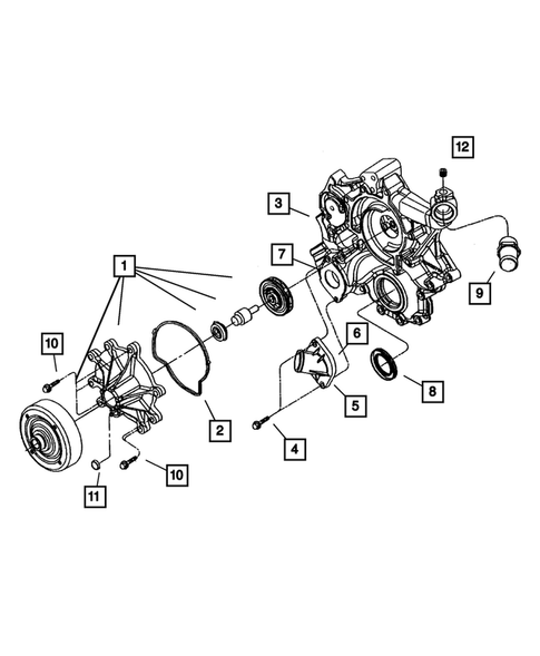 Water Pump And Related Parts For 2006 Dodge Durango Dodgeparts Com