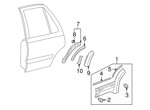 BODY/EXTERIOR TRIM - REAR DOOR for 2001 Toyota 4Runner #1