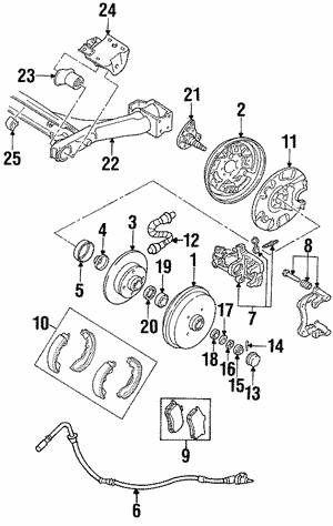 Brake Shoes, Rear, Rear Left