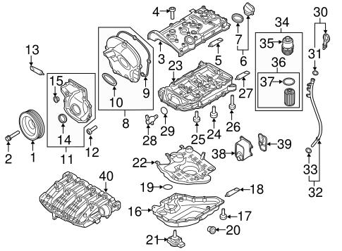 Volkswagen Filter Element 06k115562