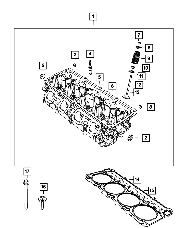 Genuine Chrysler 53022306AB Cylinder Head Gasket