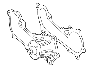 Radiator And  ponents Scat furthermore Water Pumps Parts furthermore Cooling System Water Pump moreover Honda Gx160 Carburetor Parts Diagram in addition Water Pump Scat. on part 16100 water pump