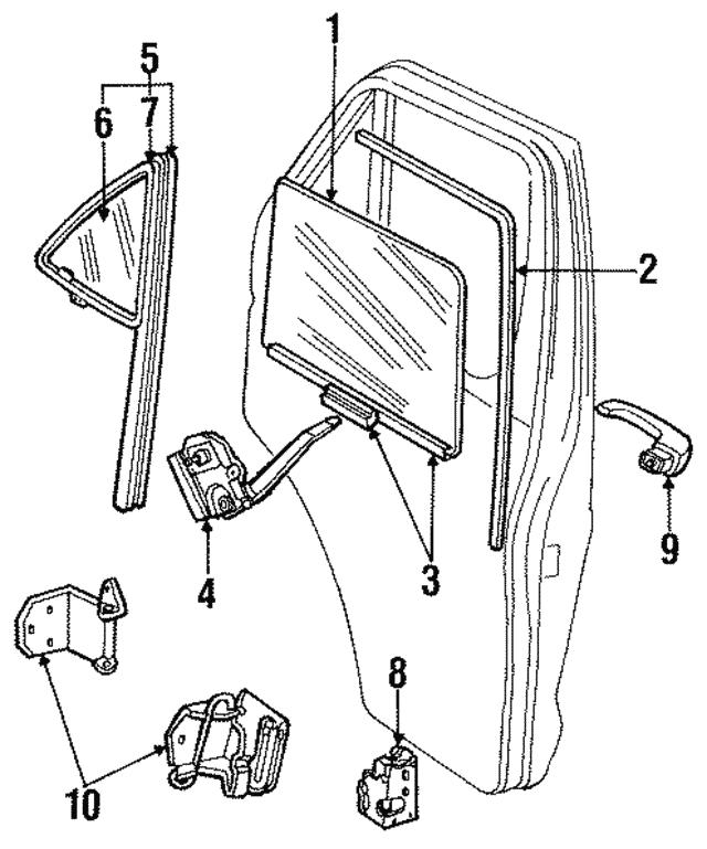 1984 Dodge Latch 4217705