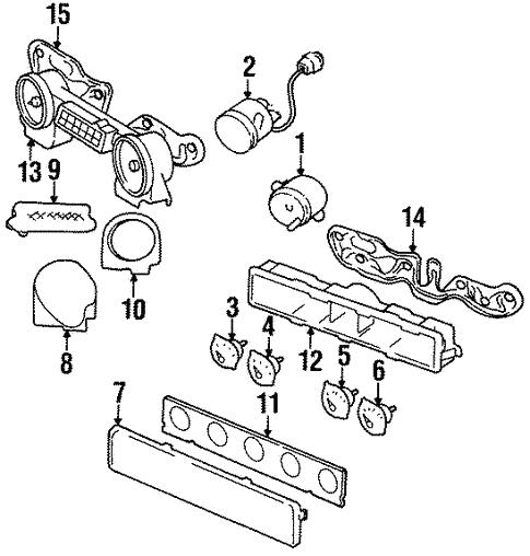 Instrument Gauges For 1993 Jeep Wrangler Parts