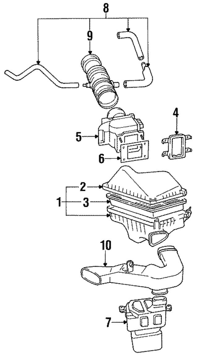 1992 2003 Lexus Filter Element 17801 03010