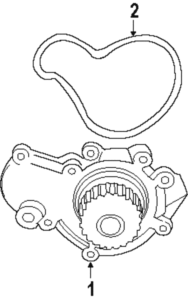 1995 2010 Mopar Water Pump Assembly Seal 4621564