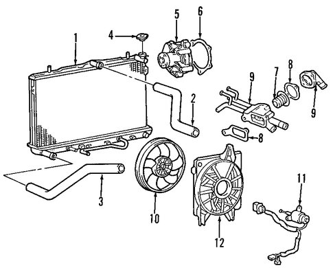 2006 hyundai elantra engine diagram elantra cooling system parts | elantra 2006 hyundai ... 2008 hyundai elantra engine diagram #9