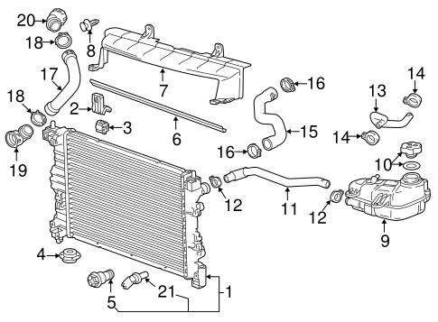 radiator components for 2015 chevrolet sonic. Black Bedroom Furniture Sets. Home Design Ideas