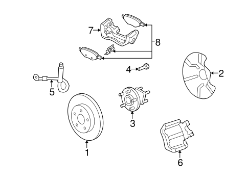 Brake Components For 2009 Saturn Aura