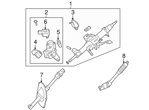 STEERING/STEERING COLUMN ASSEMBLY for 2012 Toyota Sequoia #1
