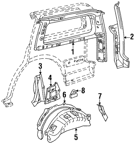 BODY/INNER STRUCTURE for 1996 Toyota Land Cruiser #1