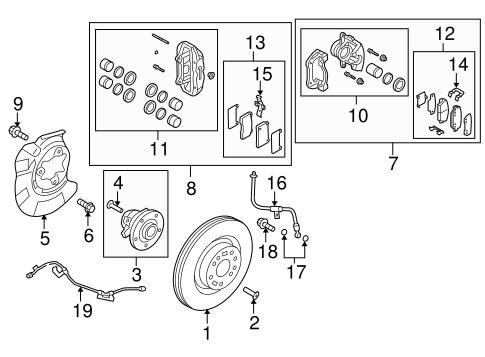 Genuine Hyundai 58270-2M700 Parking Brake Assembly Rear Right