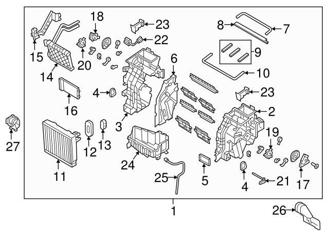 Genuine Hyundai 97135-3S000 Heater Blower Case Right