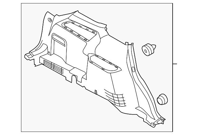 Quarter Trim Panel Ford Bbz  Ka