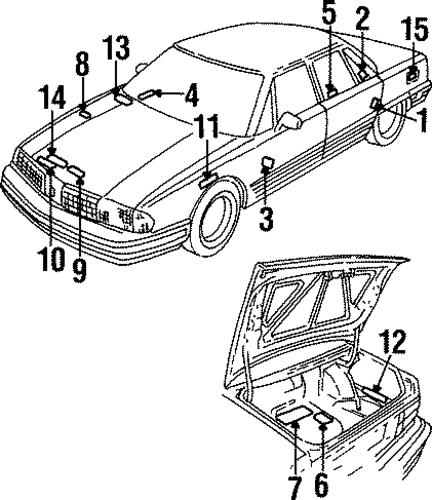 oem 1998 oldsmobile 88 labels parts
