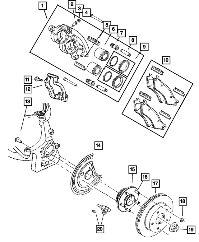 Front Disc Brake Pad Kit - Mopar (5139733AB)