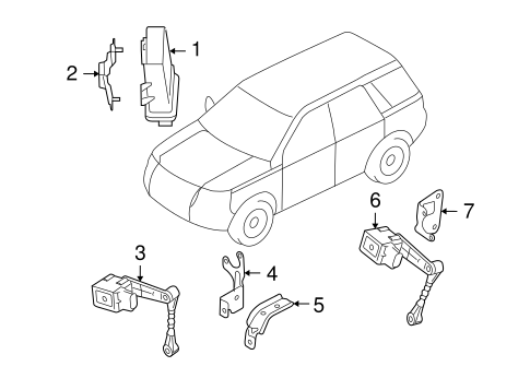 Headlamp Components For 2008 Land Rover Lr2