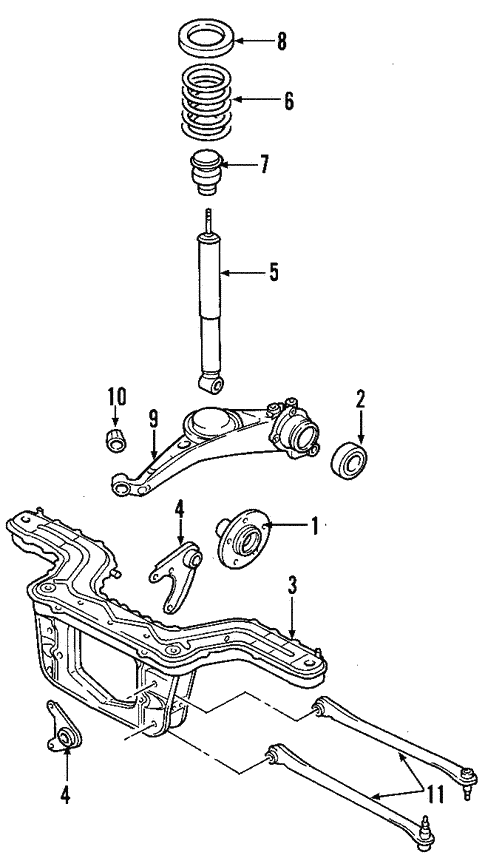 rear suspension for 2007 ford escape