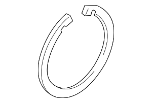 Wheel Bearing Lock Ring - Mazda (D651-33-048)