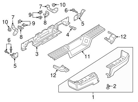 Oem 2017 Ford F 350 Super Duty Bumper Components