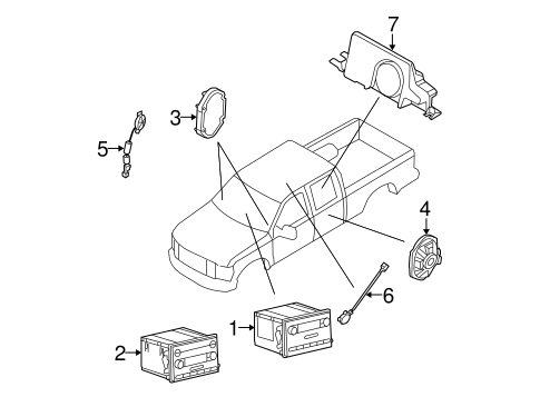 Body/Sound System for 2008 Ford F-250 Super Duty #1