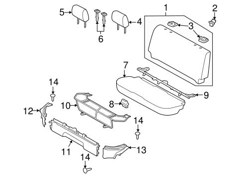 TOYOTA Genuine 71940-52560-C1 Headrest Assembly
