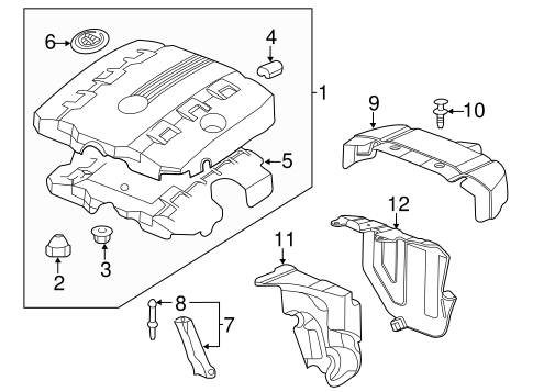 GM OEM Engine Appearance Cover-Rear Insulator 12639005