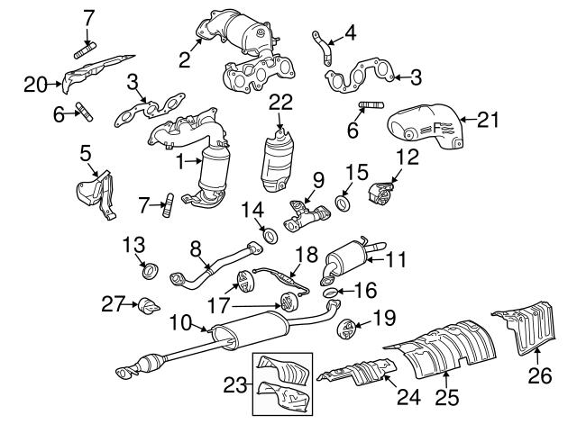 Genuine Toyota 58327-0E011 Main Muffler Insulator