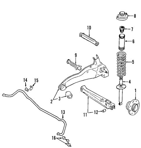 rear suspension for 2004 mitsubishi outlander ls