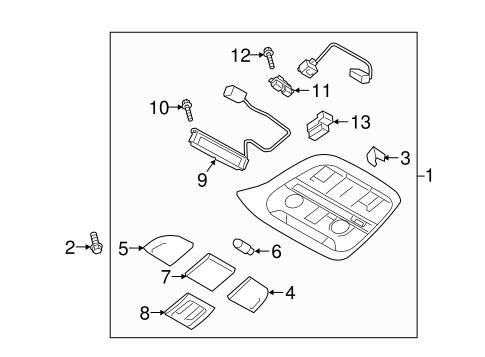 Overhead Console For 2017 Subaru Impreza