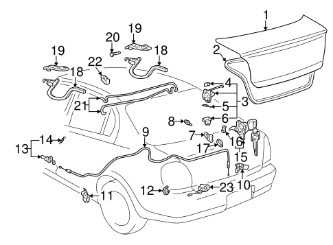 BODY/TRUNK for 2000 Toyota Echo #1