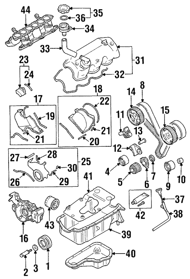 Genuine Oem Lower Timing Cover Part Md306146 Fits 1994 2004