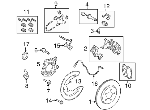 Brakes/Brake Components for 2010 Ford Mustang #1
