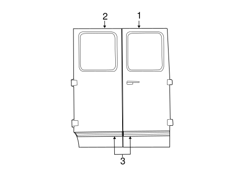 Body/Exterior Trim - Side Door for 2003 Ford E-150 #2