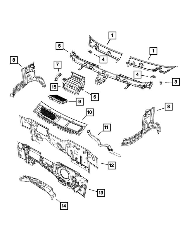 Ram CHRYSLER OEM 2014 ProMaster 2500 Rear Bumper-Cover 5MA20LAHAA