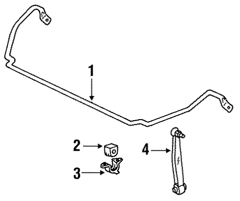 Stabilizer Bar & Components for 1992 Mercedes-Benz 400 E #0