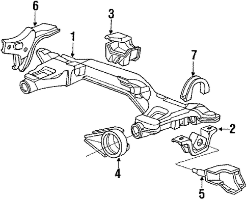 Rubber, Rear Engine Mounting (AT)