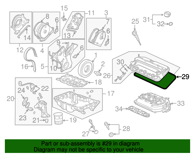 Genuine HONDA 12030-RYE-A01JVS-40277 GASKET SET