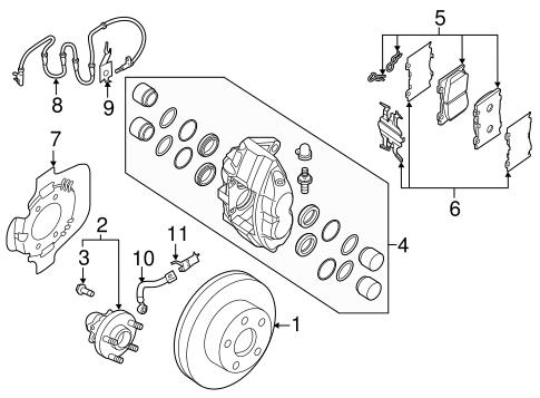 Oem 2015 Nissan 370z Brake Components Parts