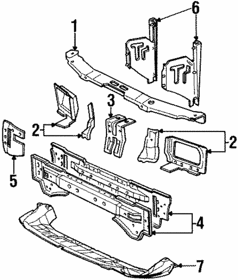 Body/Radiator Support for 1997 Ford Contour #1