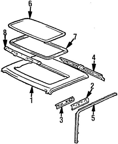 genuine oem sunroof parts for 1986 toyota 4runner sr5