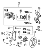 Rear Disc Brake Pad Kit - Mopar (68052386AA)