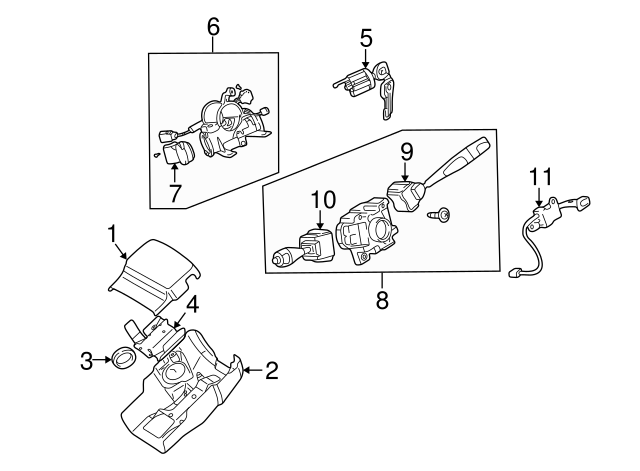 Mitsubishi Steering Lock Mn113397