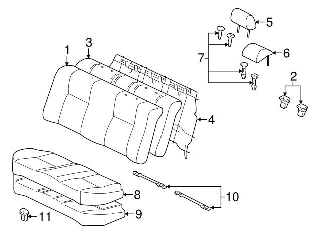 TOYOTA Genuine 71874-21010-C0 Seat Cushion Shield