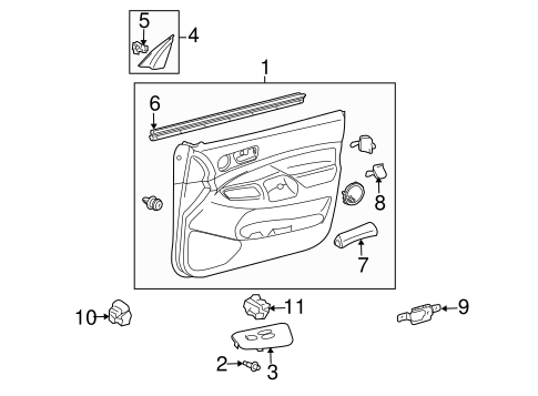 ELECTRICAL/FRONT DOOR for 2007 Toyota Tacoma #2
