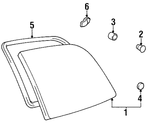 BODY/GLASS - SIDE PANEL for 1997 Toyota Previa #3