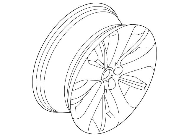 2013 2014 Ford Wheel Alloy Dg1z 1007 E
