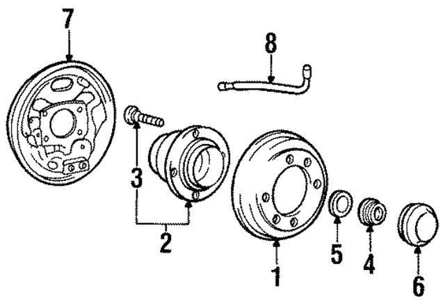 brake hose - hyundai (58743-29000)